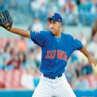 Iowa Cubs baseball player