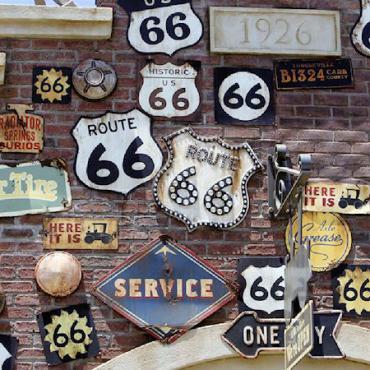 Rte 66 signs on wall.jpg