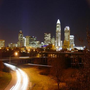 Charlotte night skyline