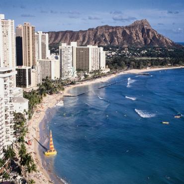 Waikiki Beach Aerial view