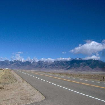 San Luis Valley road view