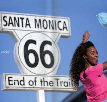 Santa Monica 66 end sign