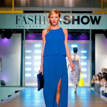 LAS Fashion Show - Runway Blue Dress