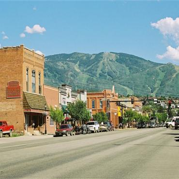 steamboat springs town view