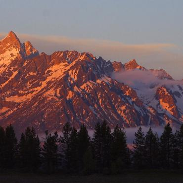 Tetons Mountain view