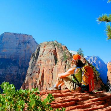 Zion -hiking-great-white-throne-angels-landing-UOT - KCOT