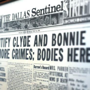 Stockyards Hotel - Bonnie & Clyde Paper - Fort Worth