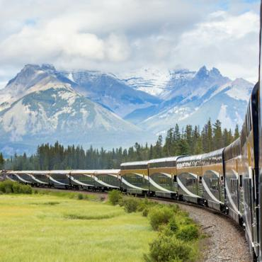 Rocky Mtneer train view