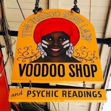MSY Voodoo signage