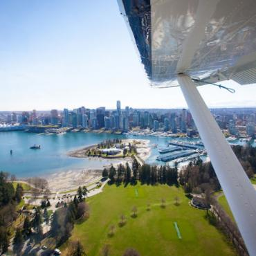 YVR Seaplane over Coal Harbour