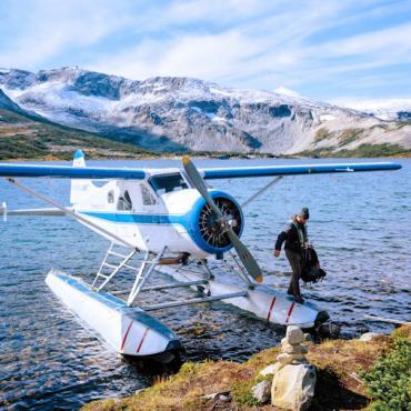 BC Cariboo float plane