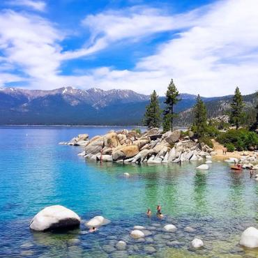 CA Lake Tahoe shoreline