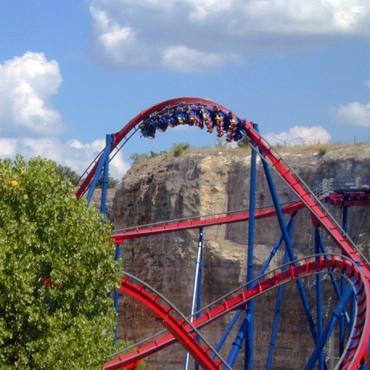 Six Flags Fiesta roller coaster