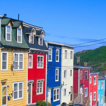 NFL St John's colourful houses