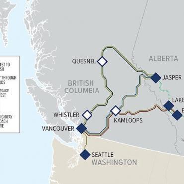 Rocky Mtneer Route Map