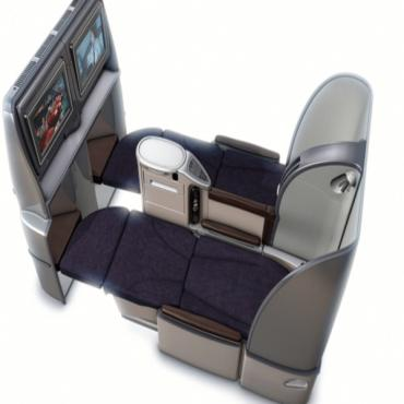 UA Business class seat - bed mode