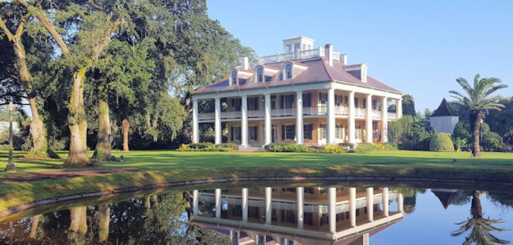 LA HOumas House Reflection pond october 2017