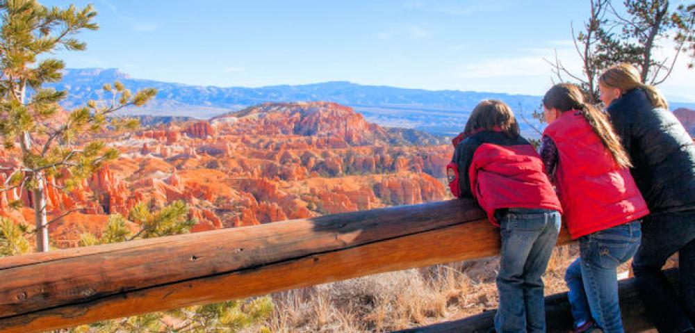 Looking at the Hoodoo Amphitheater - Bryce Canyon National Park UT - Matt Morgan