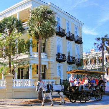 CHS carriage tour Courtesy of the Charleston Area CVB, ExploreCharleston.com