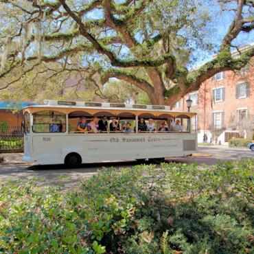 GA Savannah tour trolley Credit Georgia Department of Economic Development