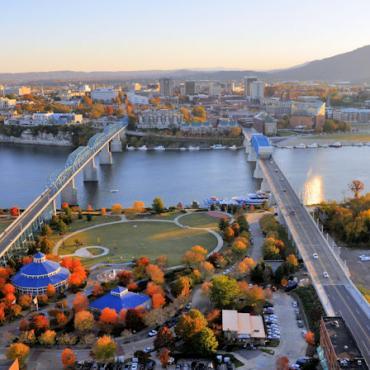 Chattanooga_Fall_Aerial_of_Chattanooga Credit Chattanooga CVB
