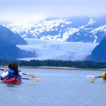 Kayaking near Juneau  © State of Alaska Brian Adams
