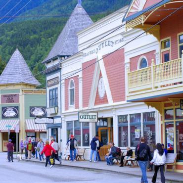Downtown Skagway © State of Alaska Reinhard Pantke