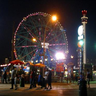 Coney Island nightime