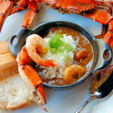 MSY Seafood gumbo by Joyce Bracey Photo Courtesy of New Orleans CVB