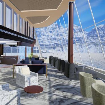 NCL Bliss observation lounge Alaska