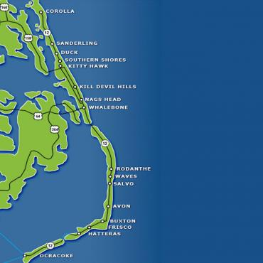 NC Outerbanks map