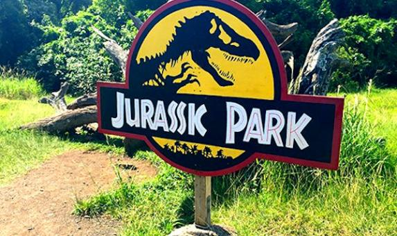 HI Kualoa Jurrasic Park sign