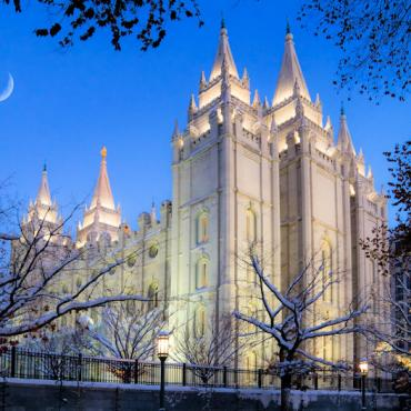 SLC Temple Square by Night_Credit Douglas Pulsipher