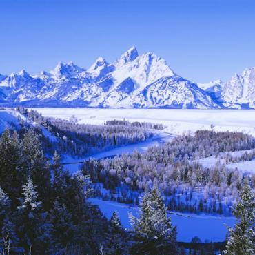 WY Grand Teton in Winter_Credit Corbis