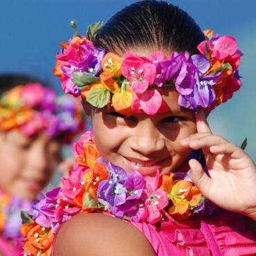 HI Pink Hula girl