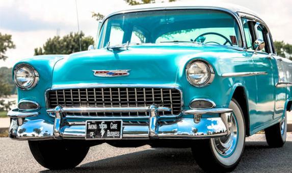 MEM Rockabilly Rides blue car