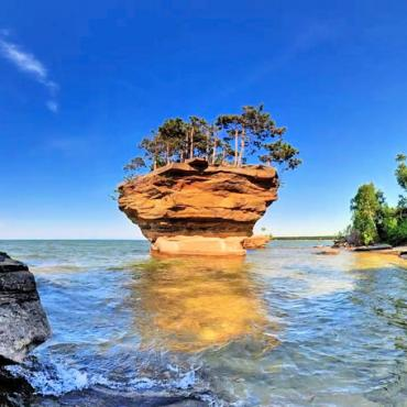 Turnip Rock Lake Huron
