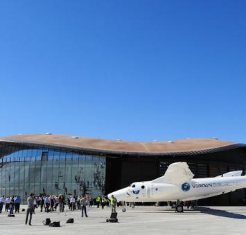 NM spaceport with aircraft
