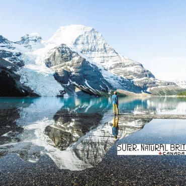 Mt Robson and man BC and logo
