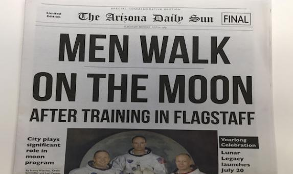 Men Walk On The Moon Newspaper