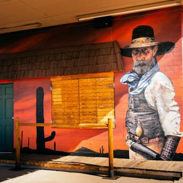 ER Wild West mural