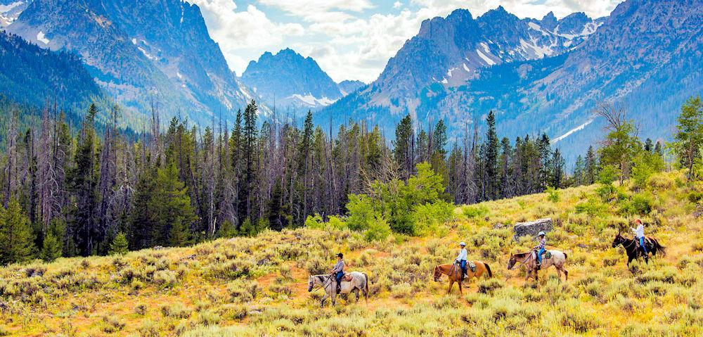ID Horseback riding Nr Stanley Photo courtesy of Idaho Tourism