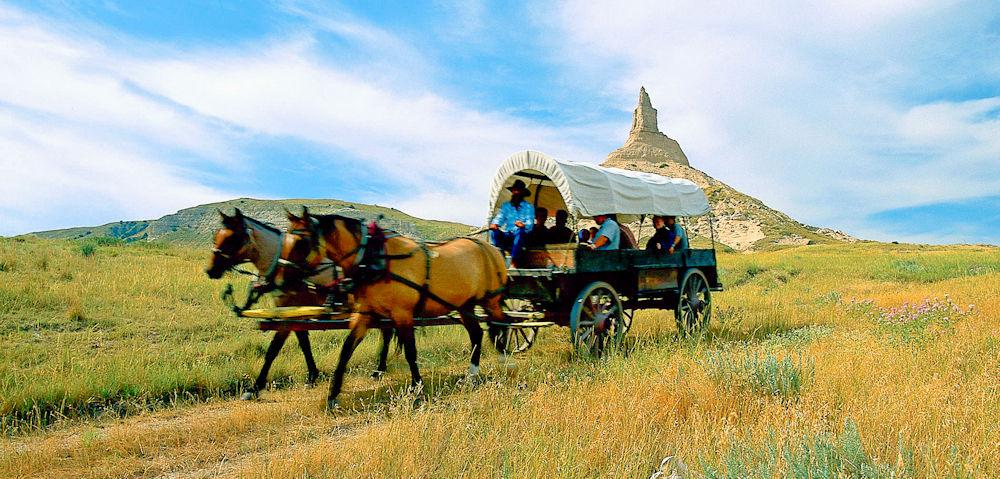 Chimney_Rock_Wagon_JNabb Nebraska Tourism