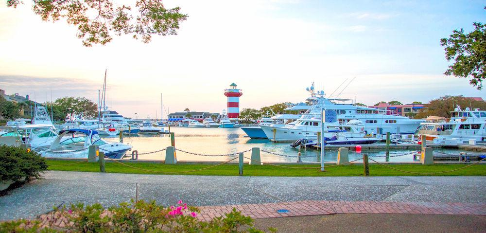 SC  HHI Pleasure craft fill the Harbour Town yacht basin