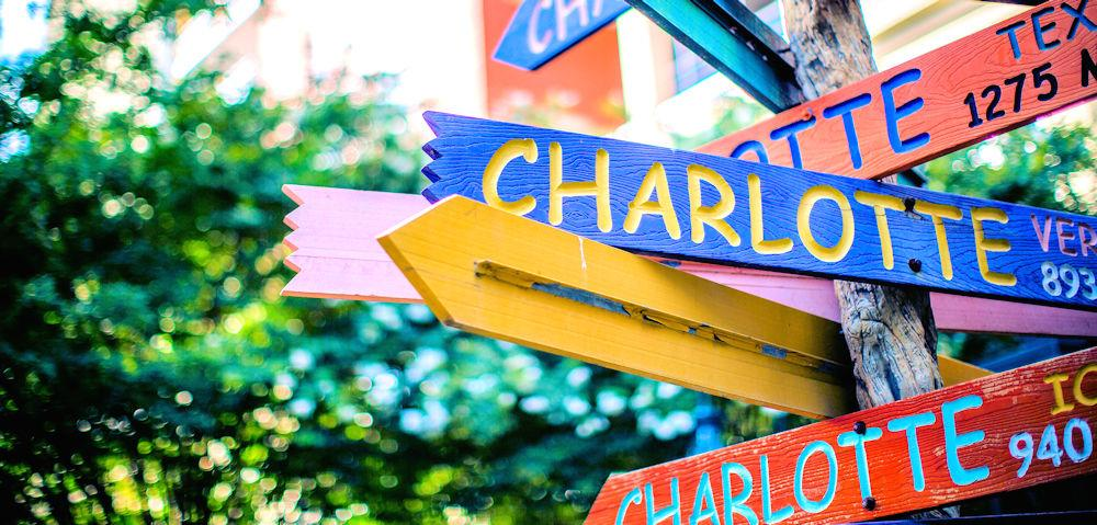 NC Charlotte Sign at The Green Photo Credit charlottesgotalot