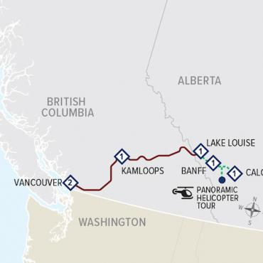 Calgary to Vancouver Map
