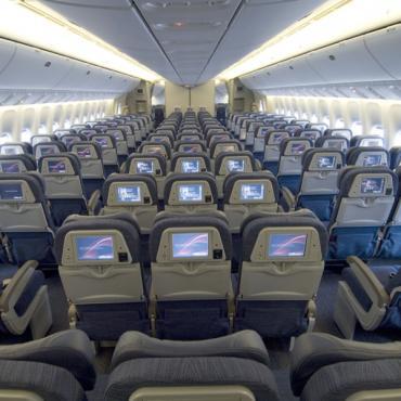 AC economy cabin interior