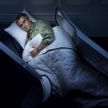 Air Canada flat bed