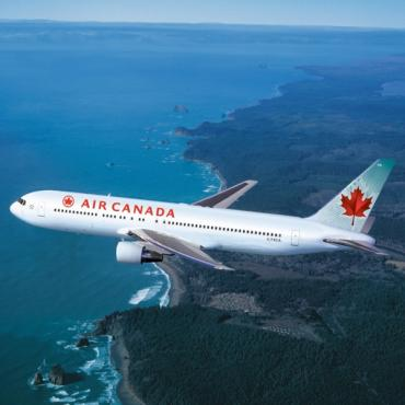 AIr Canada plane in sky
