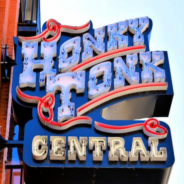 BNA Honky Tonk Central sign